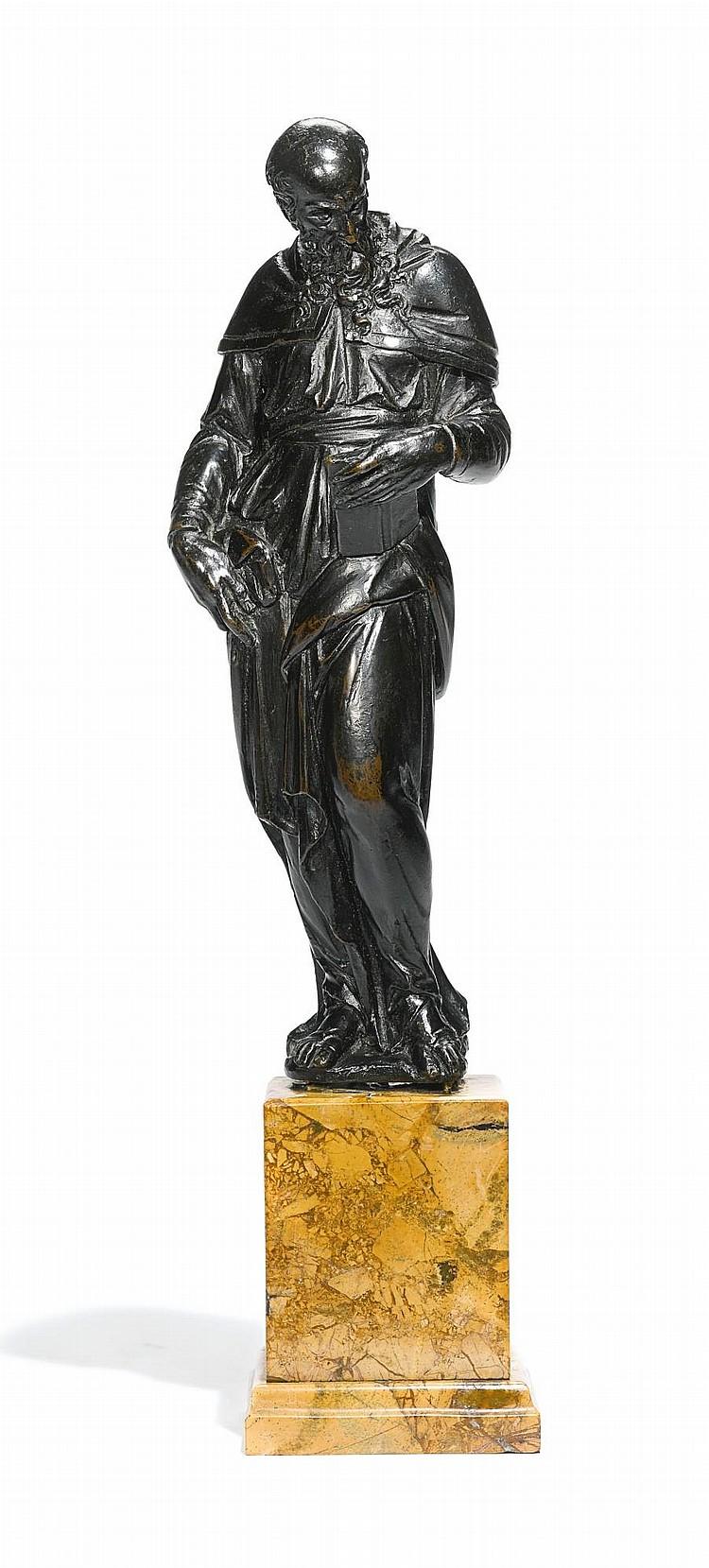 ATTRIBUTED TO ANDREA DI ALESSANDRI, CALLED IL BRESCIANO (FL. 1550-1575)<BR />ITALIAN, VENICE, THIRD QUARTER16TH CENTURY | Evangelist