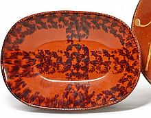 REDWARE LOAF DISH, PENNSYLVANIA, 19TH CENTURY |