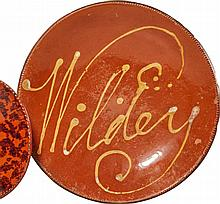 SLIP-DECORATED REDWARE PLATTER, PENNSYLVANIA, 19TH CENTURY |