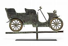 RARE GILT MOLDED COPPER AUTOMOBILE WEATHERVANE, CIRCA 1910 |
