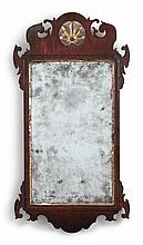 CHIPPENDALE PARCEL-GILT AND MAHOGANY LOOKING GLASS, ENGLAND, CIRCA 1750 |