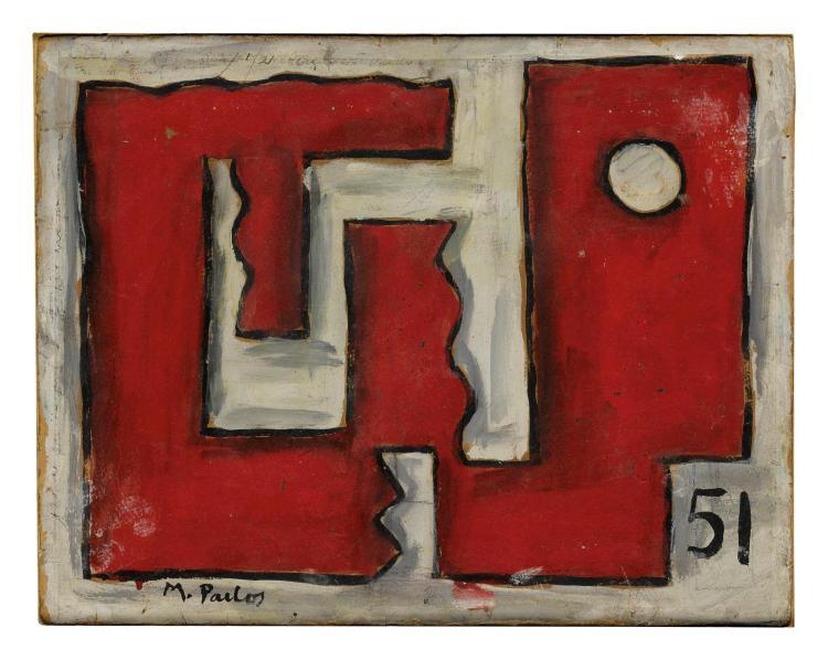 MANUEL PAILÓS (1918-2005) | Formas en rojo y blanco