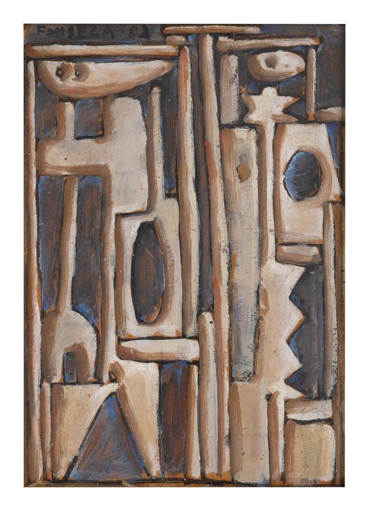 GONZALO FONSECA (1922-1997) | Pintura constructiva (Formas and Paisaje): A Double-Sided Painting