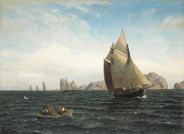 f - HANS FREDRIK GUDE NORWEGIAN, 1825-1903