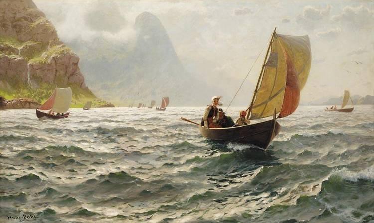 f - HANS DAHL NORWEGIAN, 1849-1937