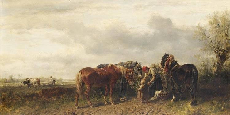 f - LUDWIG HARTMANN GERMAN, 1835-1902