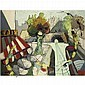 Claude Vénard 1913-1987 , A Parisian Café oil on canvas, Claude Venard, Click for value