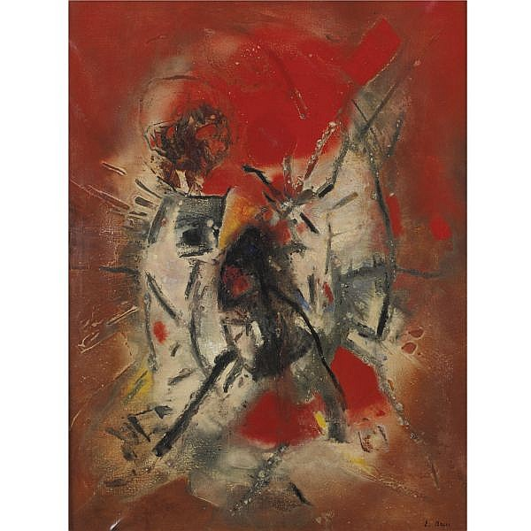 Edmondo Bacci , b. 1913 Avvenimento #269 oil on canvas