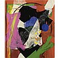 Alexander Liberman , 1912-1999 Untitled acrylic and collage on canvas   , Alexander Liberman, Click for value