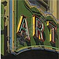 Robert Cottingham , b. 1935 Art gouache on paper   , Robert Cottingham, Click for value