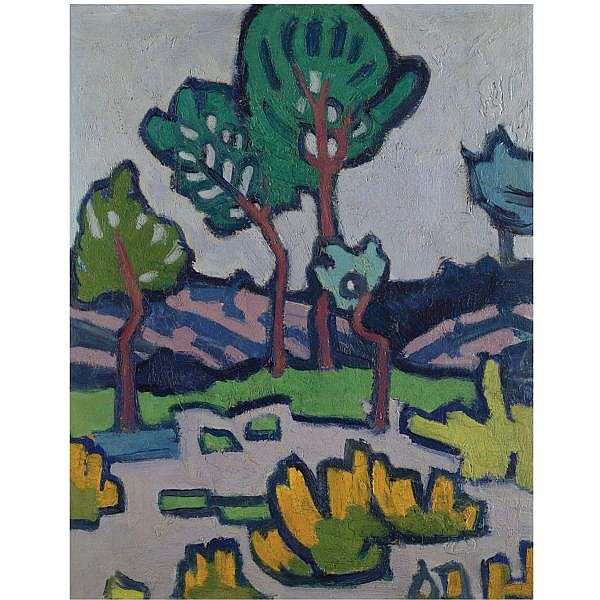 Jessica Dismorr , 1885-1939 In the garden oil on panel