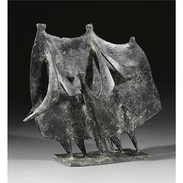 - Kenneth Armitage , 1916-2002 Family Going for a Walk bronze with black patina