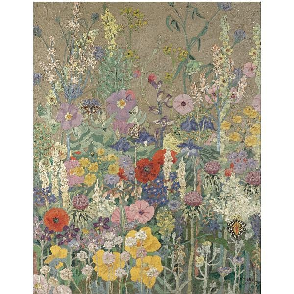 Sir Cedric Morris , 1889-1982 flowers oil on canvas