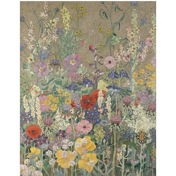 Sir Cedric Morris , 1889-1982 flowers oil on canvas