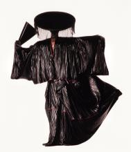 IRVING PENN | 'Issey Miyake Design with Black Fan (New York)'