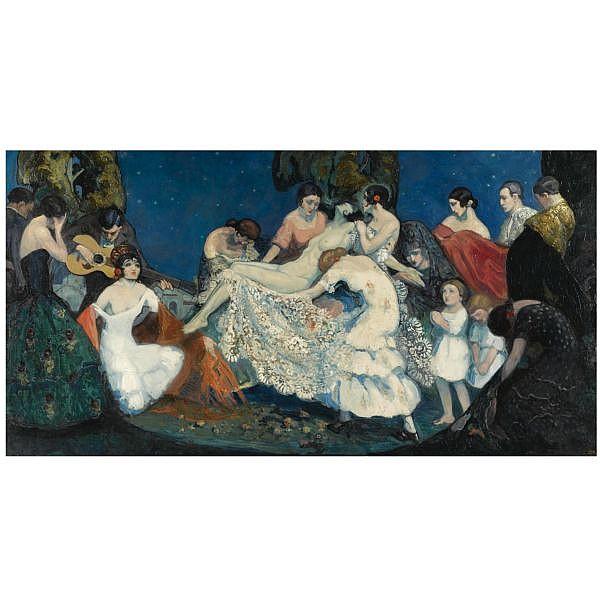 Federico Beltrán Massés Cuba 1885-Barcelona 1949 , Alegoría de Carmen (Allegory of Carmen) oil on canvas