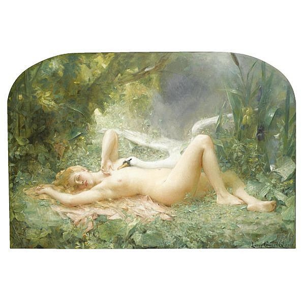 Léon-François Comerre French, 1850-1934 , Le Triomphe du Cygne oil on canvas