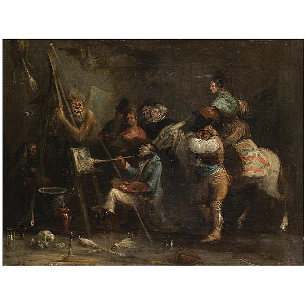 Leonardo Alenza Madrid 1807-1845 , La Crítica (The Critique) oil on canvas