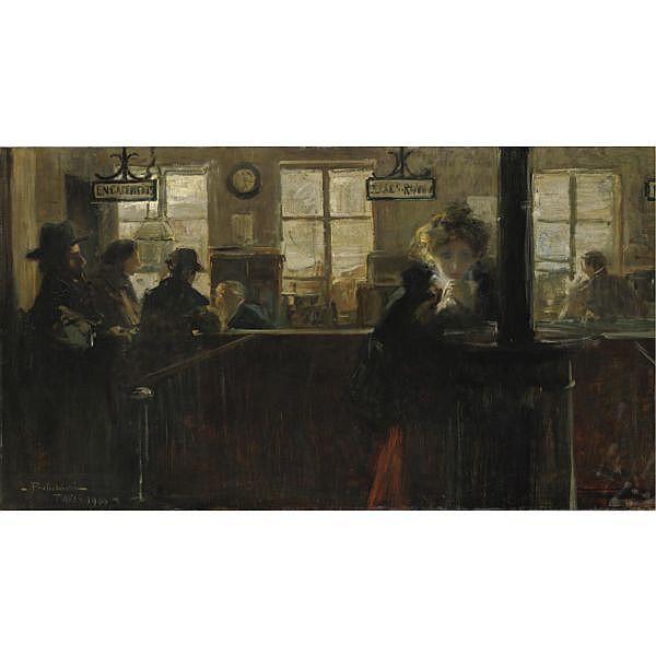 m - Lionello Balestrieri (Cetona 1872 - Napoli 1958) , il monte di pietà olio su tela