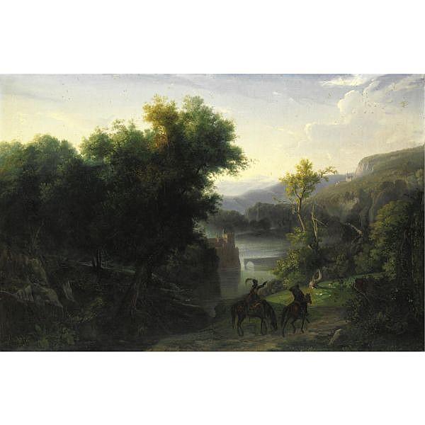 Giuseppe Palizzi (Lanciano 1812 - Passy 1888) , la maremma olio su tela