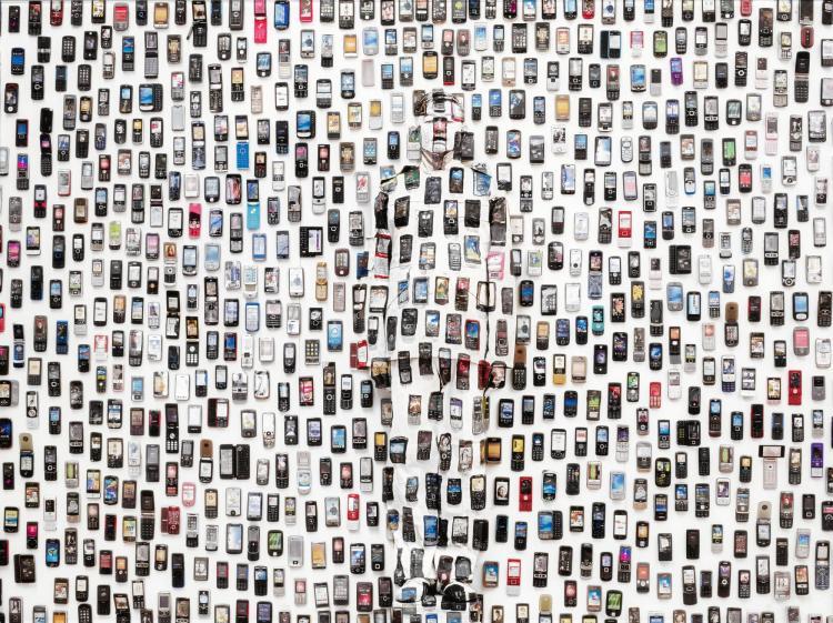 LIU BOLIN | Hiding in the City: Mobile Phone