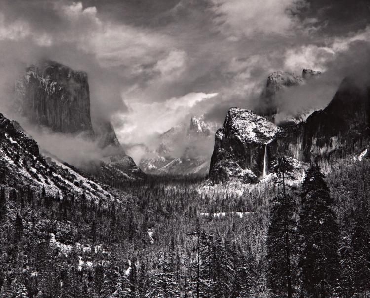 ANSEL ADAMS | 'Clearing Winter Storm, Yosemite Valley, California'