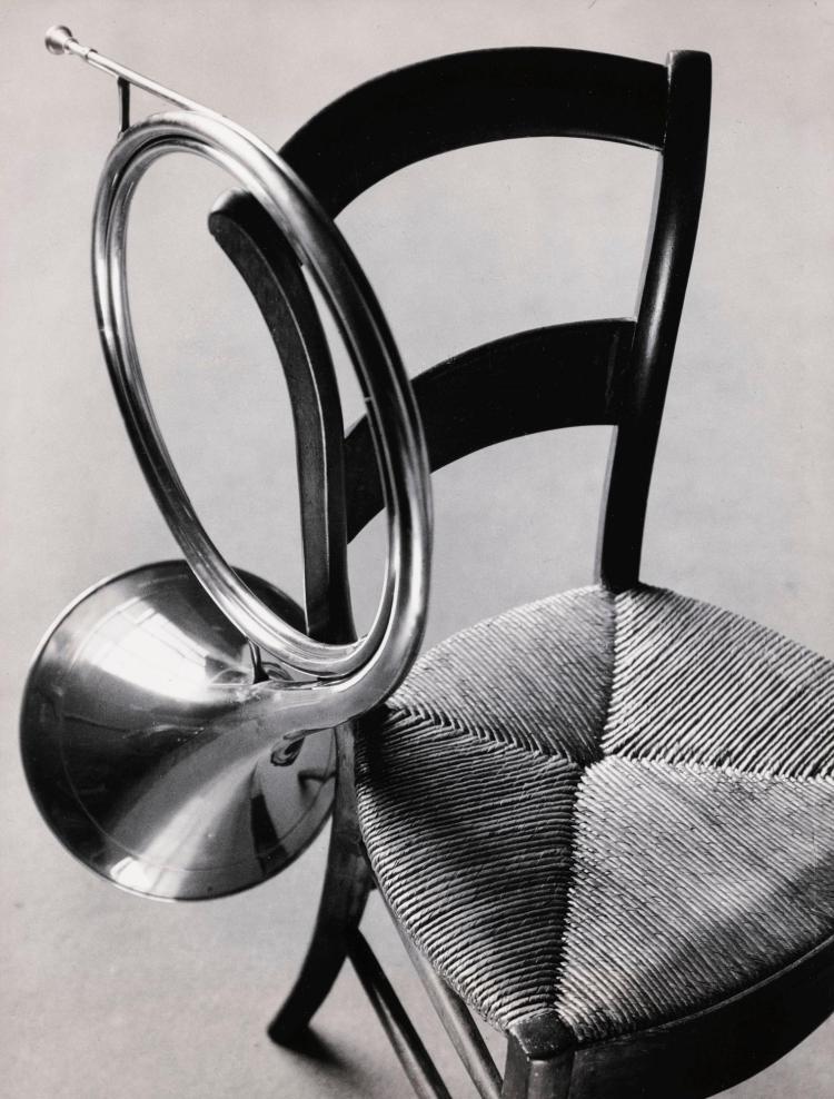 ANDRÉ KERTÉSZ | Chair and French Horn, Paris