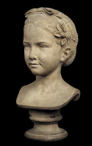 GUSTAVE-ADOLPHE-DÉSIRÉ CRAUK,1827-1905 BUSTE REPRÉSENTANT MADEMOISELLE DE MALAKOFF