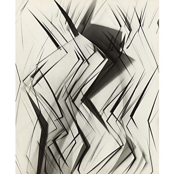 Arthur Siegel 1913-1979 , photogram (zig zags, shadows)