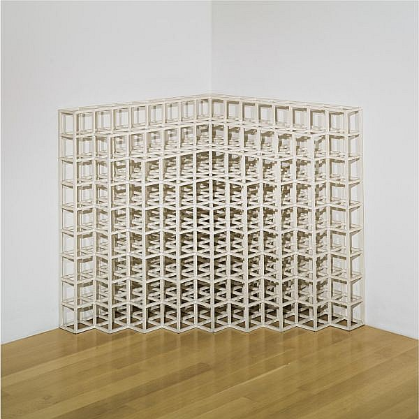 l - Sol LeWitt , 1928 - 2007 Corner Piece No. 2 painted wood
