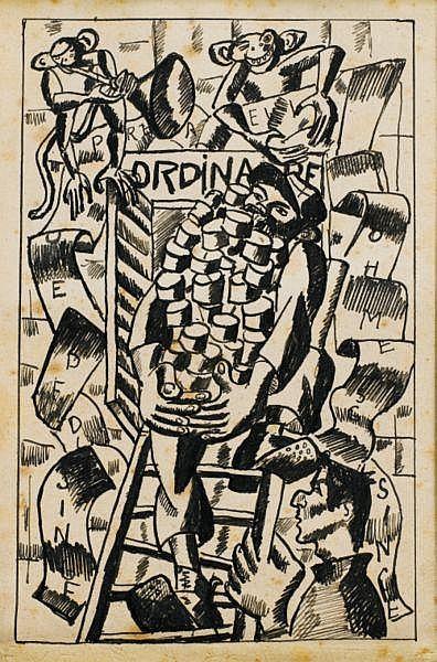 La Preuve que l'homme descend du singe. Argonne, 1916. , Léger, Fernand