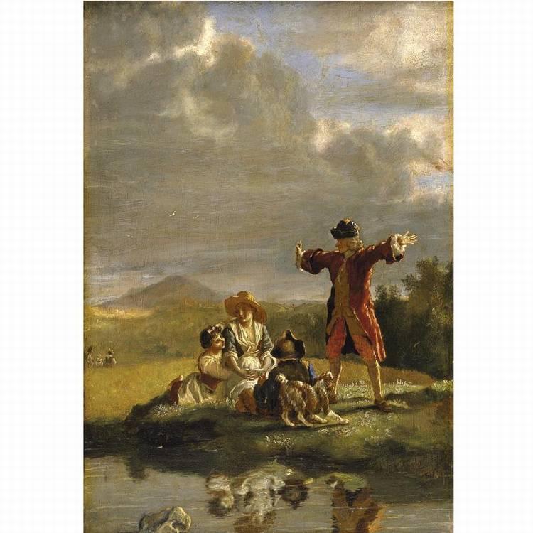 * JEAN HUBER GENEVA 1721-1786 BELLEVUE, NEAR LAUSANNE