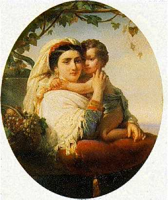 *JOSEPH STALLAERT (BELGIAN, 1825-1903) MATERNITY
