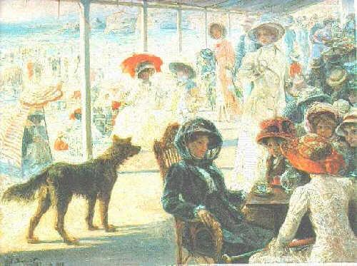 EUGENIO ALVAREZ-DUMONT (SPANISH, 1864-1927) EN LA TARDE EN BIARRITZ
