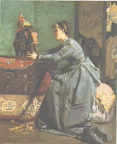 *ALFRED STEVENS (BELGIAN, 1823-1906)