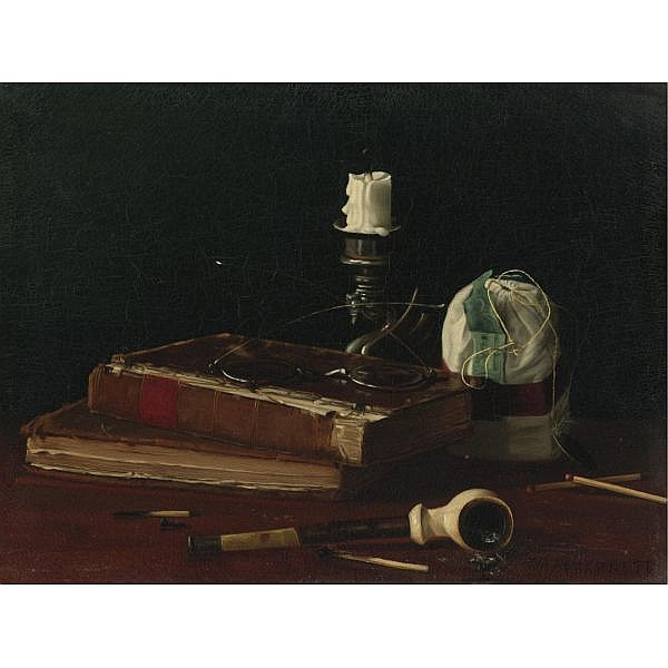 Claude Raguet Hirst 1855-1942 , Still Life oil on canvas