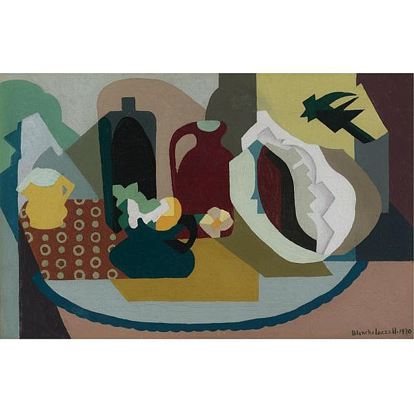Blanche Lazzell 1878-1956 , Shell and Jug oil on canvas