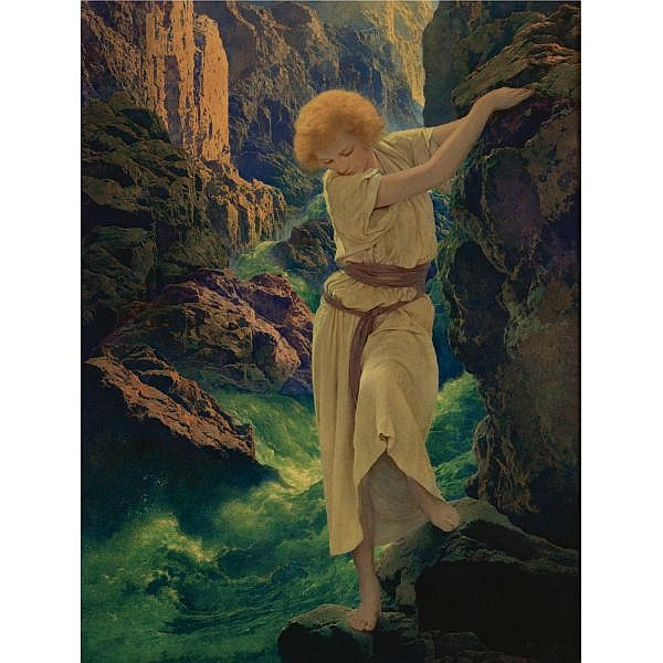 Maxfield Parrish 1870-1966 , The Canyon oil on panel
