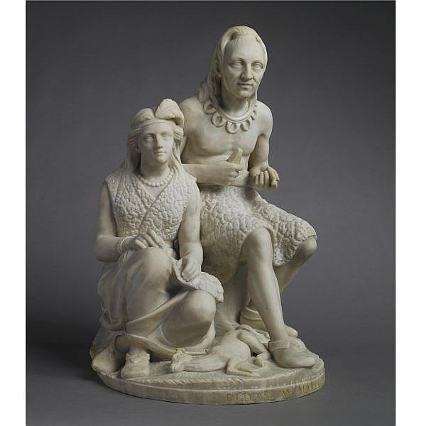 Edmonia Lewis (circa 1843-after 1909) , The Old Arrow Maker white marble