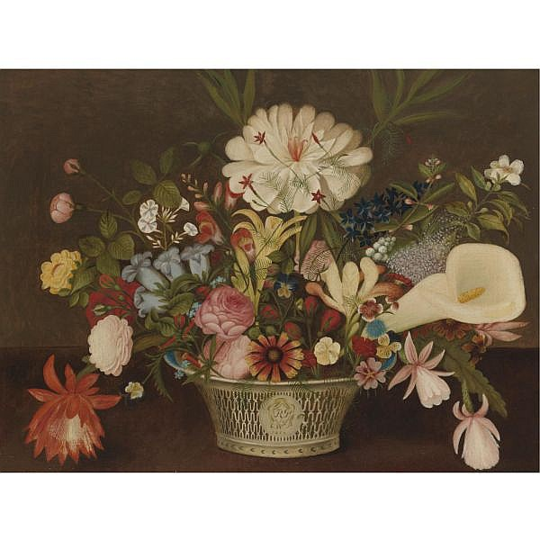Rubens Peale 1784-1865 , From Nature in the Garden   oil on canvas