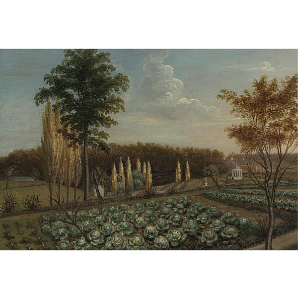 Charles Willson Peale 1741-1827 , Cabbage Patch, The Gardens of Belfield, Pennsylvania oil on canvas