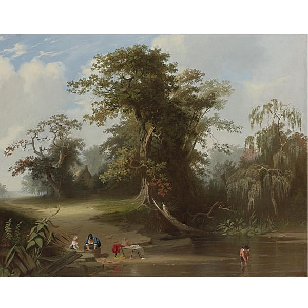 George Caleb Bingham 1811-1879 , Landscape: Rural Scenery oil on canvas