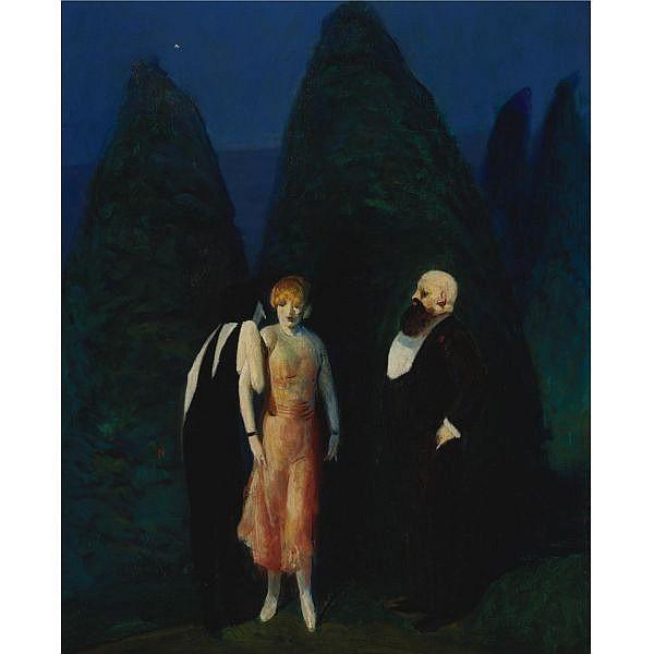 Guy Pène du Bois 1884-1958 , Pouter Pigeon oil on canvas