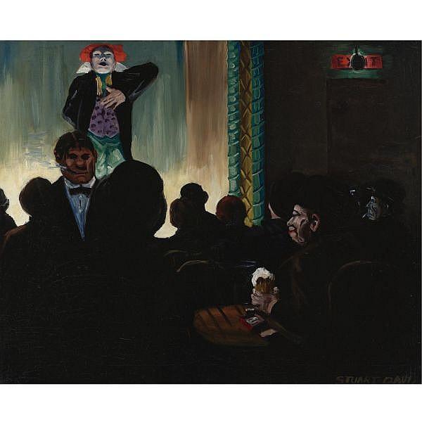 Stuart Davis 1892-1964 , The Music Hall oil on canvas