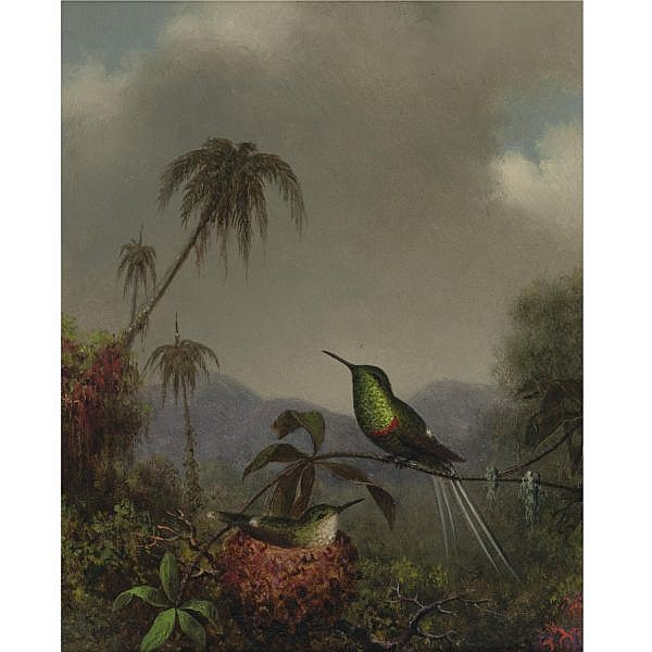Martin Johnson Heade 1819-1904 , TWO