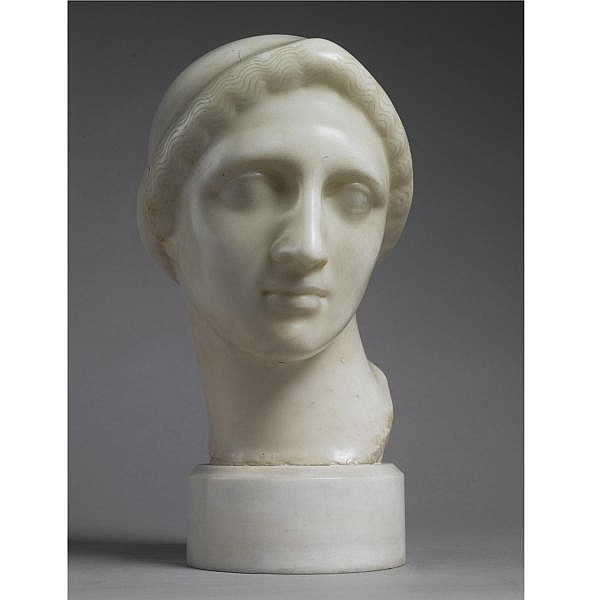 Elie Nadelman 1882-1946 , Classical Head white marble