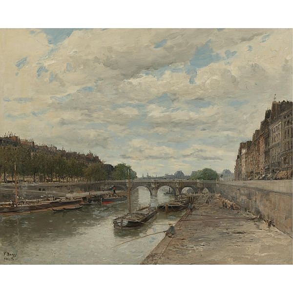 Frank Myers Boggs 1855-1926 , Pont Neuf oil on canvas
