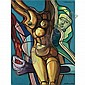 Ernst Neizvestny b.1926 , La femme acrylic on canvas   , Ernst Neizvestny, Click for value