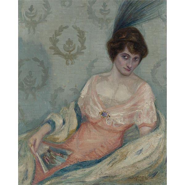 Carlos Alberto Castellanos 1881-1945 , Mujer Sentada oil on canvas
