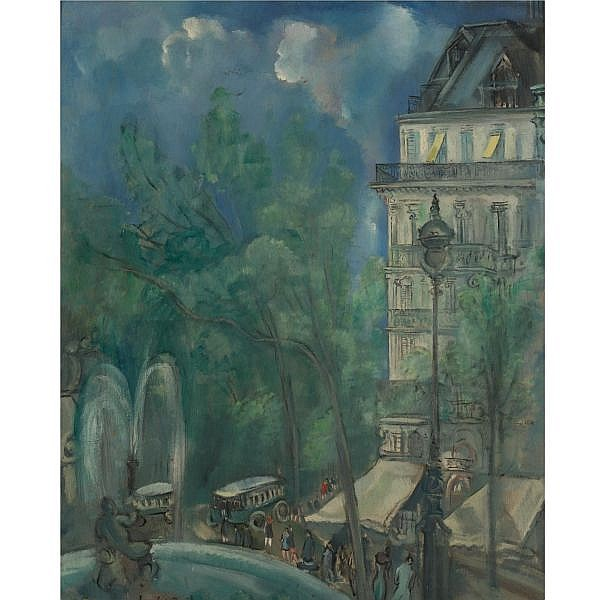 Hermine David 1886-1971 , Rue de ville oil on board
